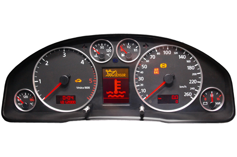 Audi A4 Kombiinstrument Tachoreparatur Anzeigen