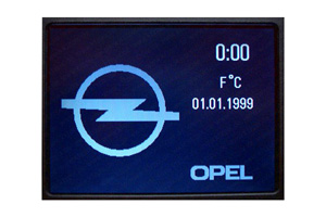 Opel Zafira - Repariertes CID-Display