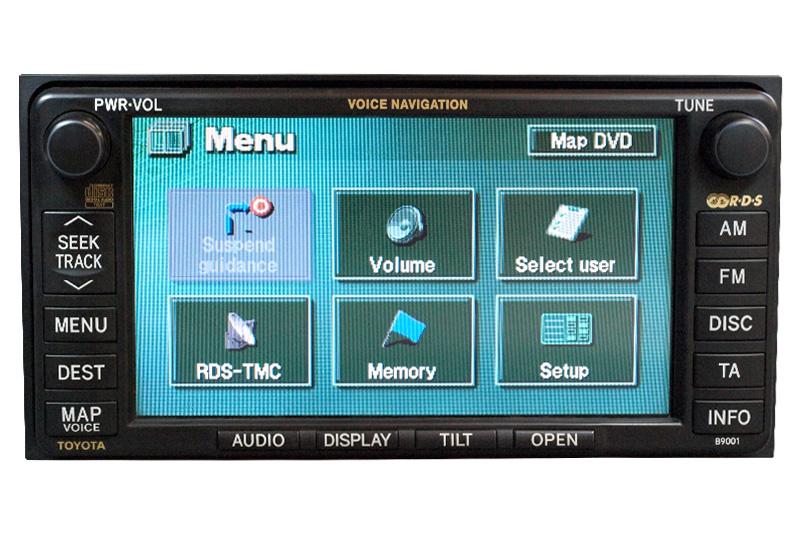 toyota rav4 combined instrument repairs satellite navigation unit rh de en kfzpix de Toyota Navigation Upgrade Toyota Navigation Disc