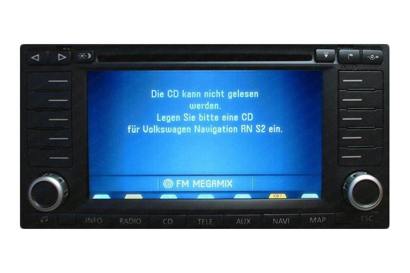 VW Golf - Combined instrument repairs, Satellite navigation unit